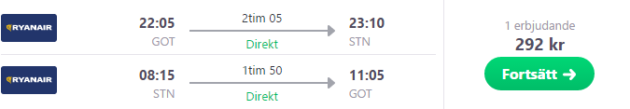 Goteberg to London