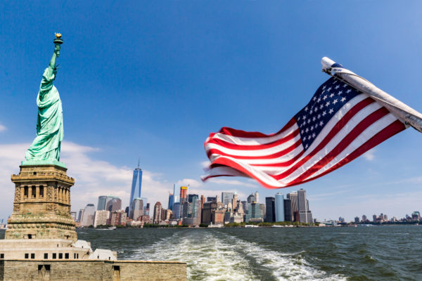 New York with Flag