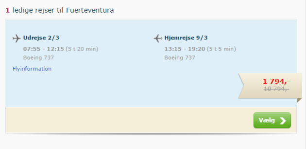 Flights to Fuerte