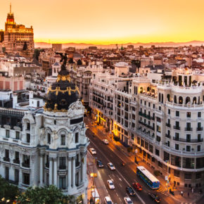 City Break: 3 days to Madrid at central 3* hotel incl. breakfast, flights & city tour from 1209kr