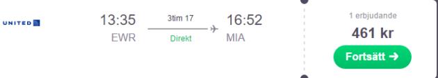 Newark to Miami