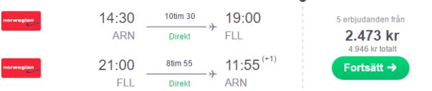 Stockholm to Florida