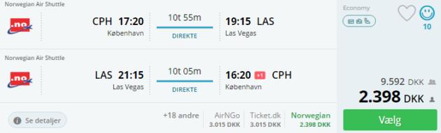 Copenhagen to Las Vegas