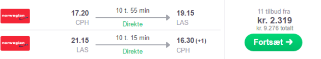 Copenhagen to Vegas