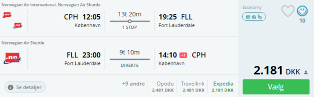 Cph to Fort Lauderdale