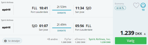 Fort Lauderdale to San Jose