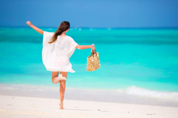 Woman Beach Zanzibar