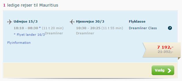 Mauritius flight