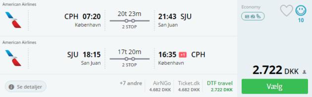 Copenhagen to San Juan