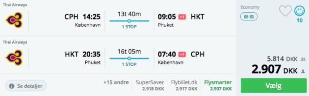 Flight to Phuket