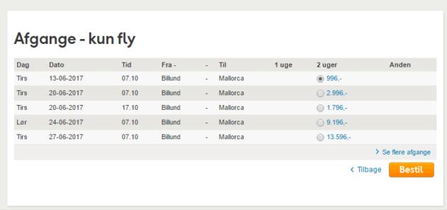 Billund to Mallorca
