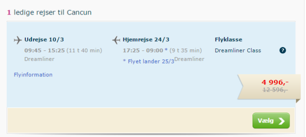 Cancun Flight