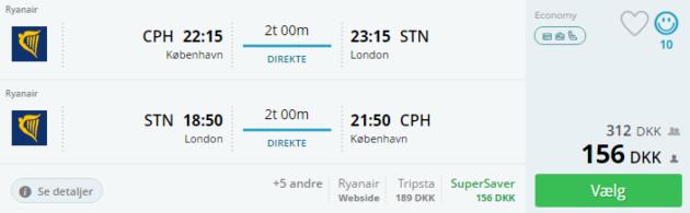 Flights Copenhagen London