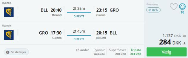 Billund to Girona