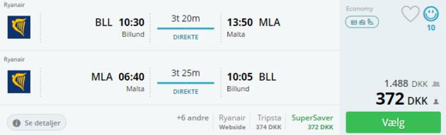 Billund to Malta