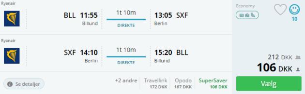Billund nach Berlin