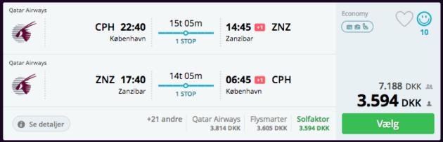 Flight to Sansibar
