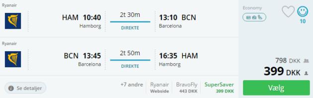 Hamburg to Barcelona