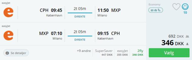 Flight to Milan