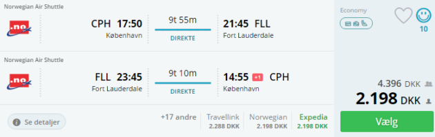 Cph to FLL