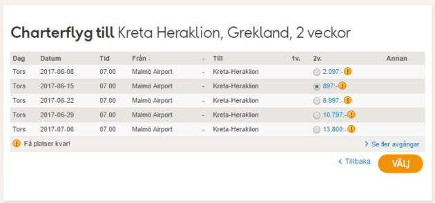 Flights to Kreta