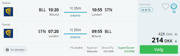 Billund to London