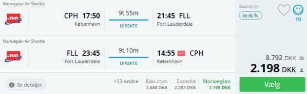 Copenhagen to Fort Lauderdale