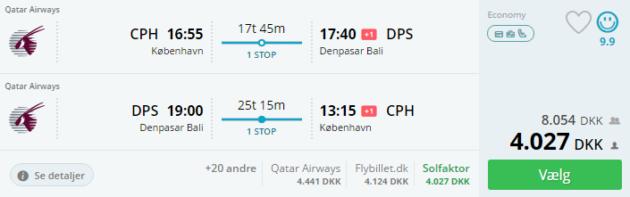 Copenhagen to Bali