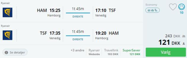Hamburg to Venice