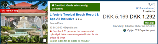Hotel Lifestyle Tropical Beach Resort & SPA