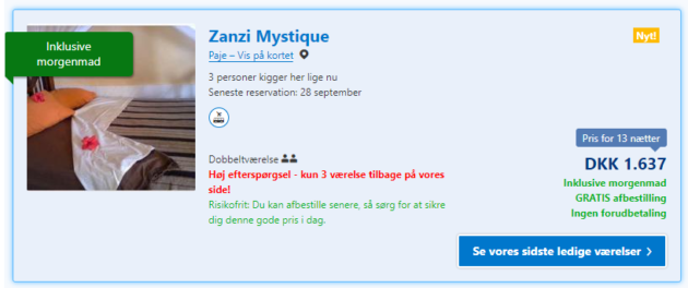 14 days Zanzibar