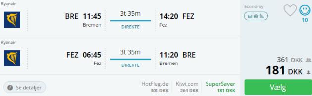 Bremen nach Fes