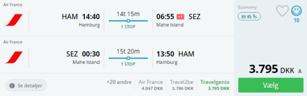 Hamburg to Mahe