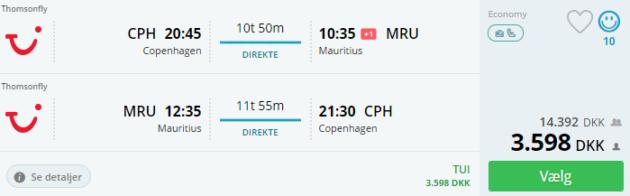 15 days Mauritius