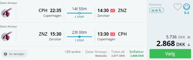 18 days Zanzibar