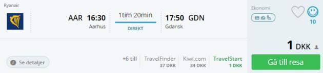 Aarhus flight