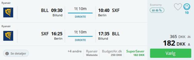Flight Billund Berlin