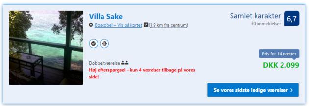 Villa Sake Deal