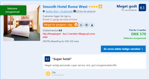 3 days Rome Hotel