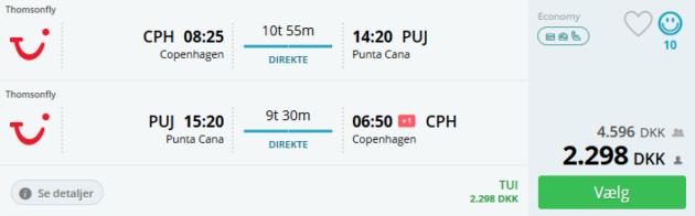 Flight Copenahgen Punta Cana