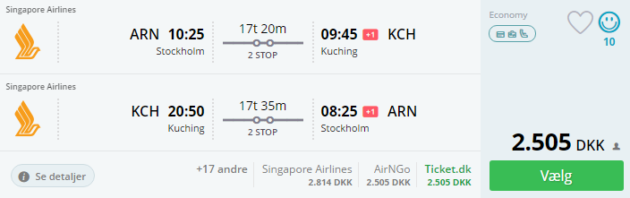 Borneo flights