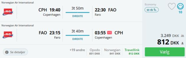 Flight Copenhagen Faro