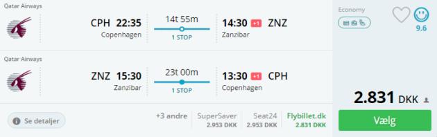 Flights Zanzibar