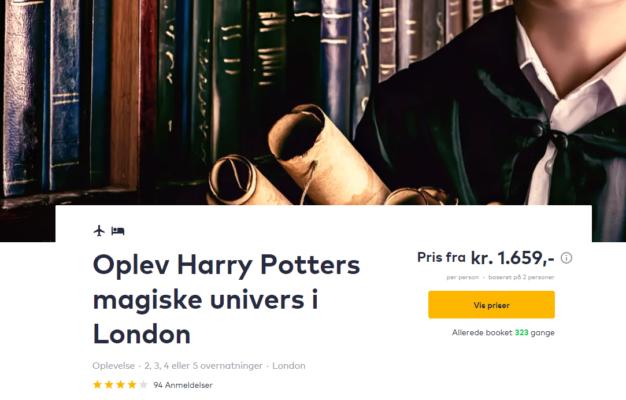 3 days London Harry Potter