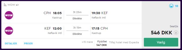 Flight Copenhagen Reykjavik