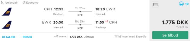 Kopenhagen nach Newark
