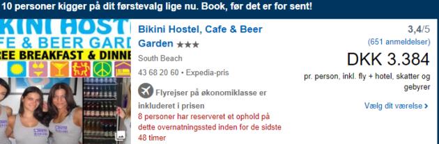 Bikini Hostel Deal